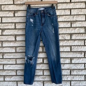 Tillys RSQ high rise distressed mom jeans